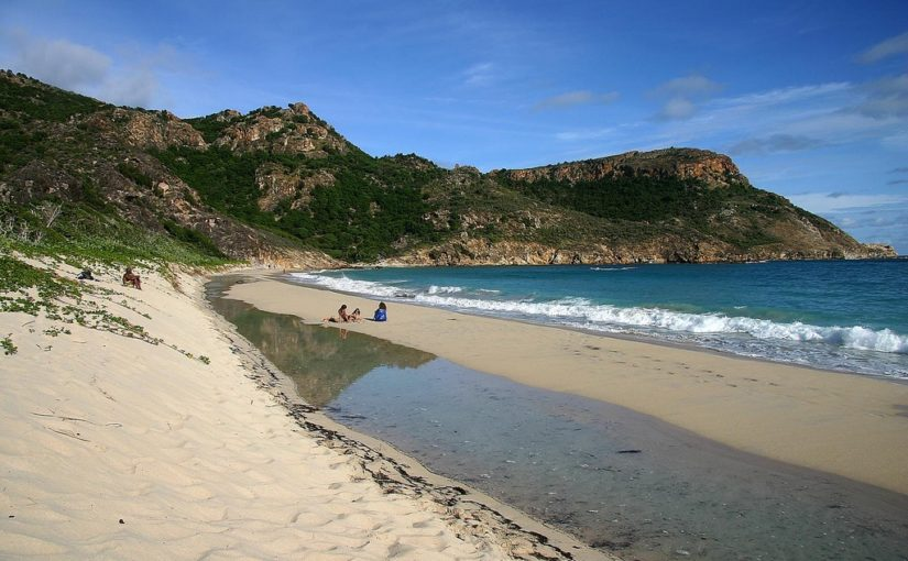 Saline Beach of Saint Bart's Island